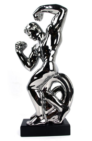 Silver Electroplated Muscle Man Adonis Ornament - CMC029