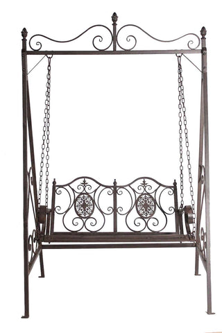 Wrought Iron 2 Seater Metal Swing Bench - FA002