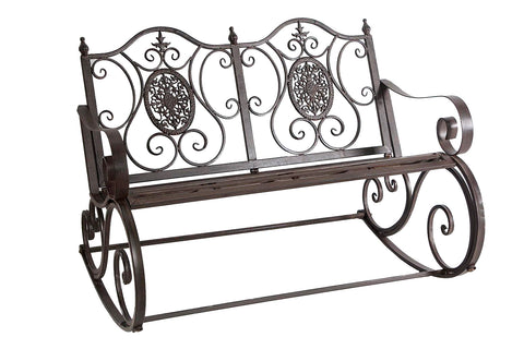 Wrought Iron Metal 2 Seater Rocking Bench - FA003