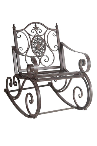 Wrought Iron Metal Rocking Chair - FA004