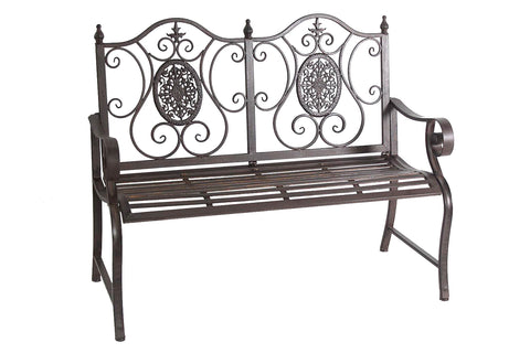 Wrought Iron Metal 2 Seater Bench - FA006