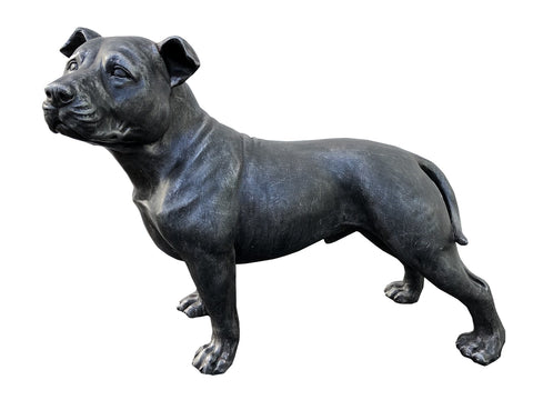 Grey Outdoor Staffordshire Bull Terrier Ornament - FC051