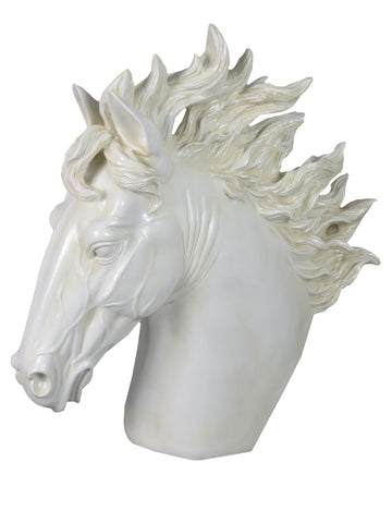 White Stallion Horse Head Ornament - FL001