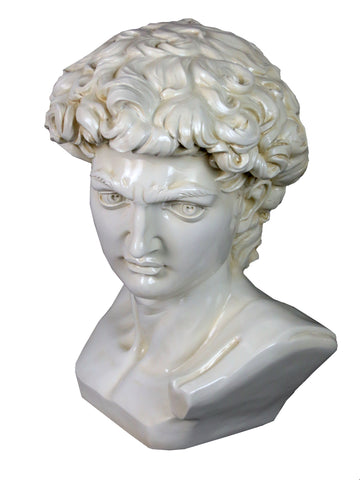 Small White Bust of David Ornament - FL002
