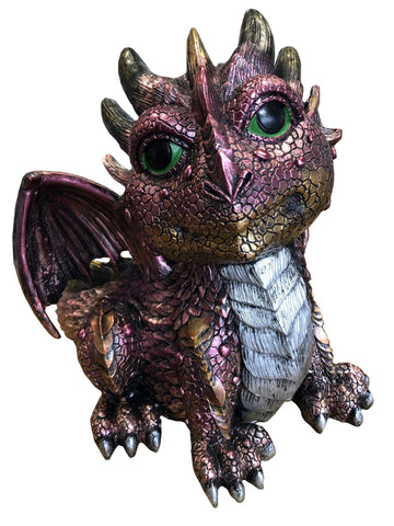 Sitting Purple Baby Dragon Ornament - JG031