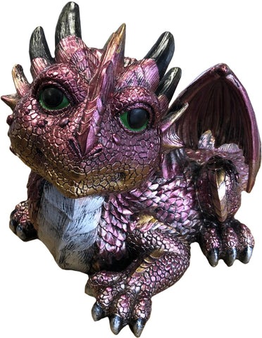 Lying Purple Baby Dragon Ornament - JG032