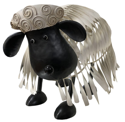 White Metal Sheep Ornament - JG034