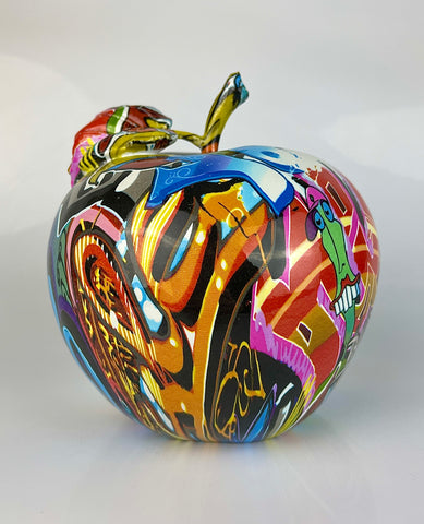 Multicolour Graffiti Apple Ornament - JG042