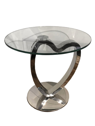 L'Amour Stainless Steel Love Heart Side Table - LAM005