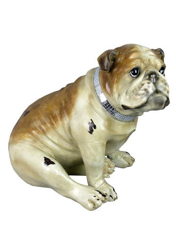 Sitting Bulldog with Mosaic Collar Ornament - NY034