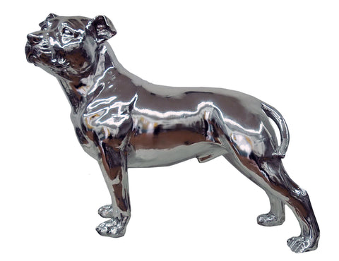 Electroplated Silver Large Bull Terrier Ornament - NY058