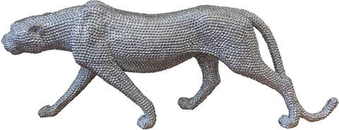 Silver Studded Prowling Lioness Ornament - NY061 - ||OOS|| No Restocking Date