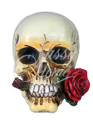 Rose Skull Ornament - QM029