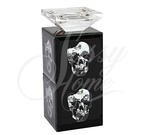 Black Small Skull Candle Stick Holder - TH001