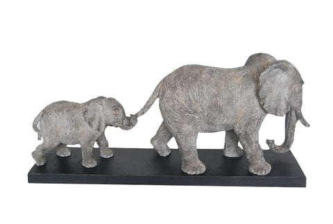 Follow the Leader Father & Baby Elephant Ornament - TM009