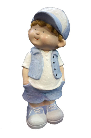 City Kidz Blue Boy Standing Ornament - VA001
