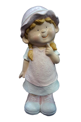 City Kidz Pink Girl Standing Ornament - VA002