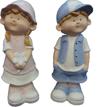 City Kidz Boy Girl Couple Standing Ornament - VA013