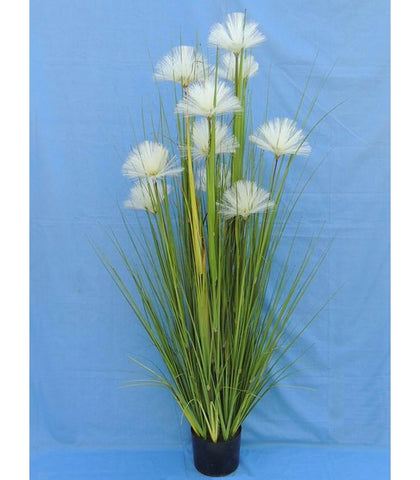 White Flower Artificial Plant - WL158GRWH150