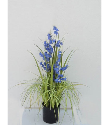 Blue Bell Flower Artificial Plant - WL170GRBL65