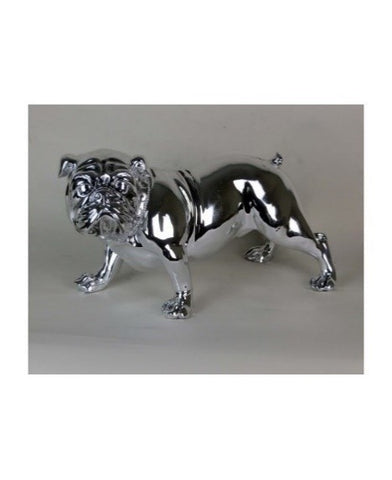 Silver Electroplated Standing Bulldog Ornament - WL5551