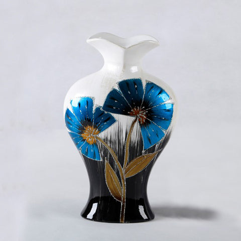 Colourama Blue Flower Pointed Vase - WLC002NB