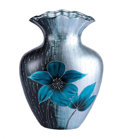Colourama Blue Crimp Floral Vase - WLC017B