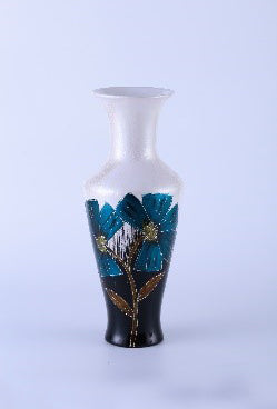Colourama Blue Flower Long Neck Tall Vase - WLC157NB