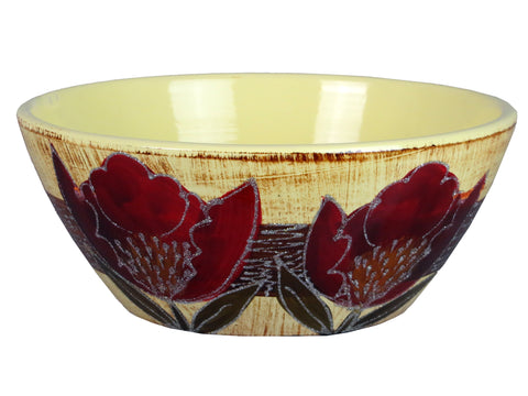 Colourama White & Blue Floral Bowl - WLCFBNR