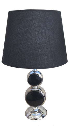 Black & Silver Colourama Table Lamp - WLCL32B
