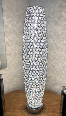 Silver Chrome Crystal Gherkin Table Lamp (3 LED Tone) - WLT1003-M