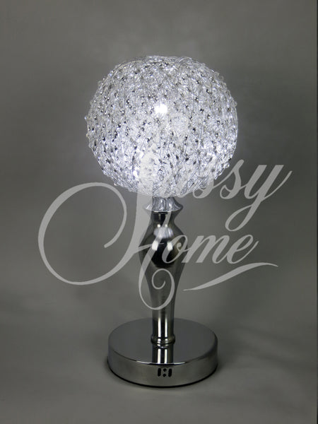 Silver Wire Amp Crystal Ball Led Table Lamp Wlt2001 1 Sassyhome