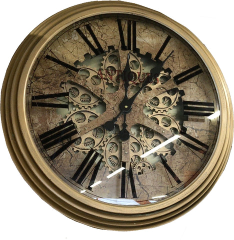 Antique Effect Skeleton Wall Clock - 66.5cm - CA012