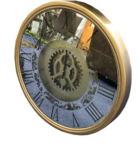Large Mirrored Skeleton Wall Clock - 84.5cm - CA013