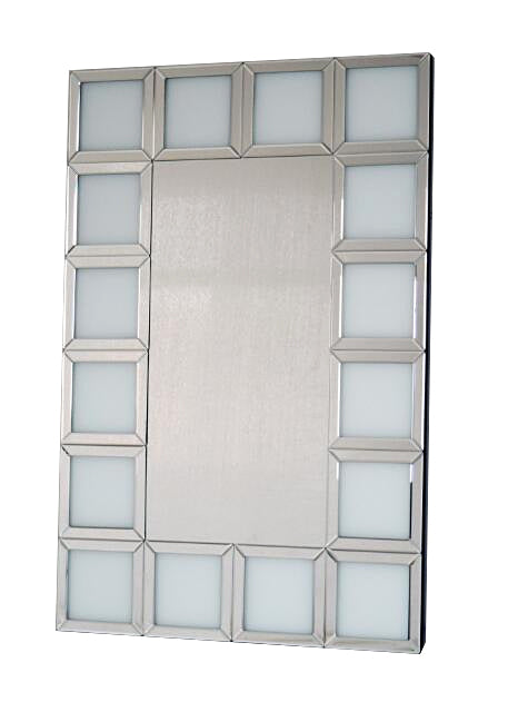 Bianco White Square Repeating Frame Wall Mirror - CD159 – SassyHome