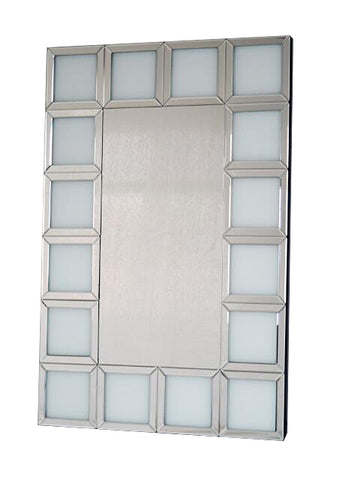 Bianco White Square Repeating  Frame Wall Mirror - CD159