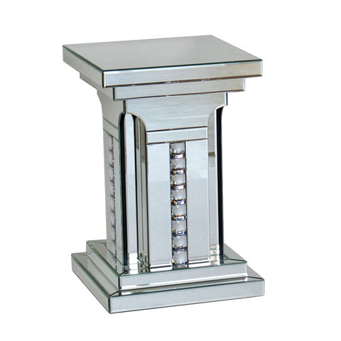 Small Prism Crystal Mirrored Pillar - CD176