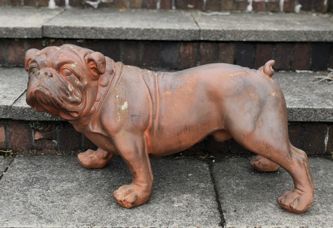 Rusty the Bulldog Rustic Effect Ornament - FC061