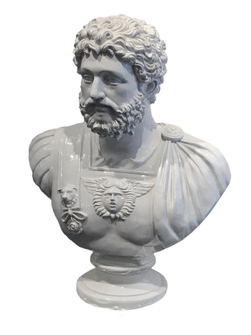 White Bust of Marcus Aurelius Ornament - FL007