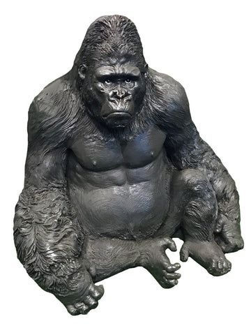 Large Sitting Gorilla Ornament - NY033