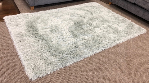 Sparkle Glitter Fleck Mint Green Floor Rug