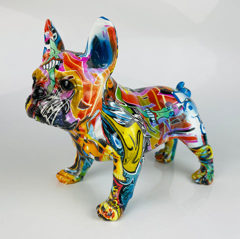 Multicolour Graffiti French Bulldog Ornament - JG043