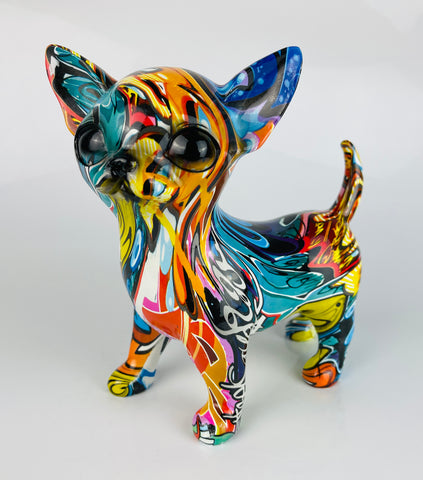 Multicolour Graffiti Chihuahua Puppy Ornament - JG046