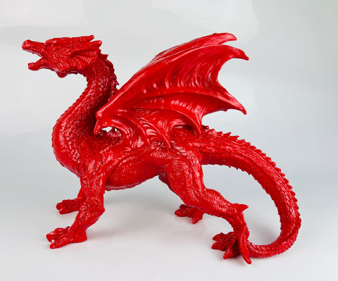 Small Red Gloss Dragon Ornament - JG036
