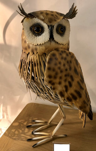 Metal Barn Owl Ornament - JG035