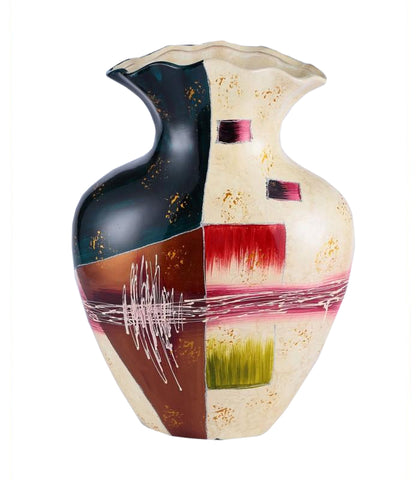 Colourama Multicolour Crimp Vase - WLC017M