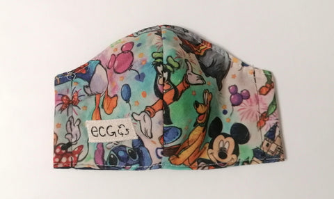 Mickey & friends I face mask size XS