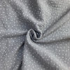 Dotty Double Gauze Dove Grey £12.90 per metre