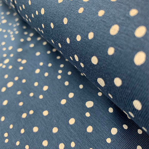 Cotton Jersey - Spots/Blue £14.90 per metre