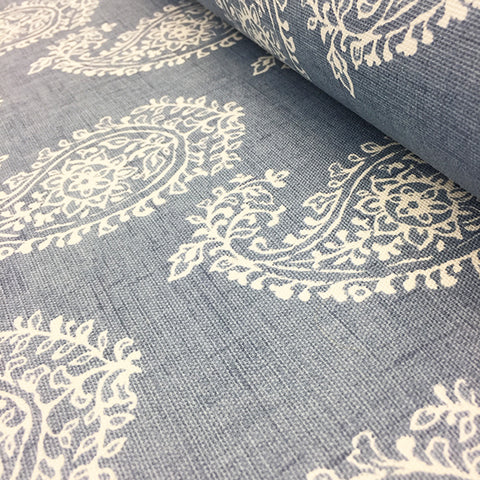 Paisley on Chambray